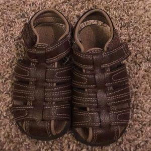 Wonder Nation Used Brown Toddler Velcro Sandals